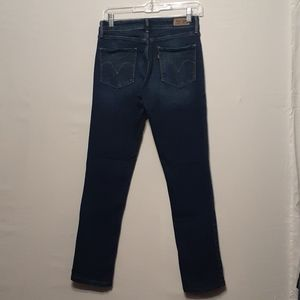 LEVIS DARK WASH  MID RISE SKINNY JEANS